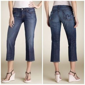 Citizens of Humanity Jeans Kelly Low Waist Crop 27